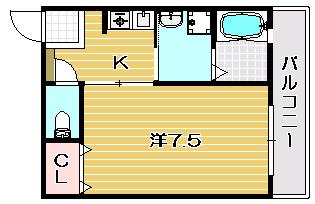 茨木市の賃貸マンション|シャルムOSの間取り