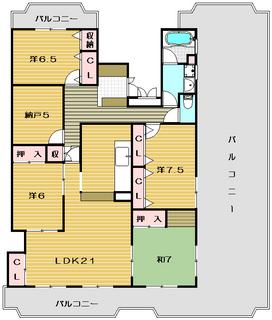 茨木市の賃貸マンション|ルミネ・サワの物件間取