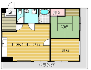茨木市の賃貸マンション|タウンハイツ穂積 間取.jpg