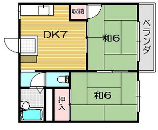 茨木市の賃貸アパート|ガーデンハイツ林 間取.jpg